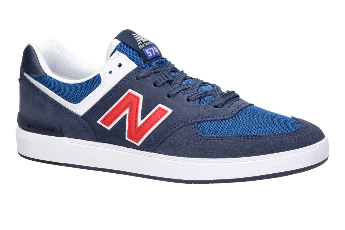 promo code cd79f c9ec8 New Balance Numeric 574 Suede Shoes (navy red)