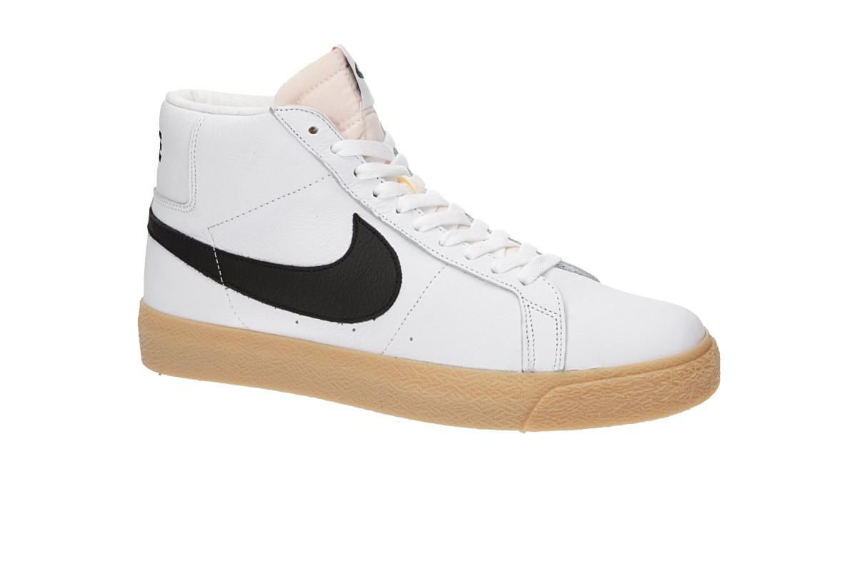 42bd1a8b2b3a5 Nike SB Orange Label Zoom Blazer Mid Iso Shoes (white black) buy at ...