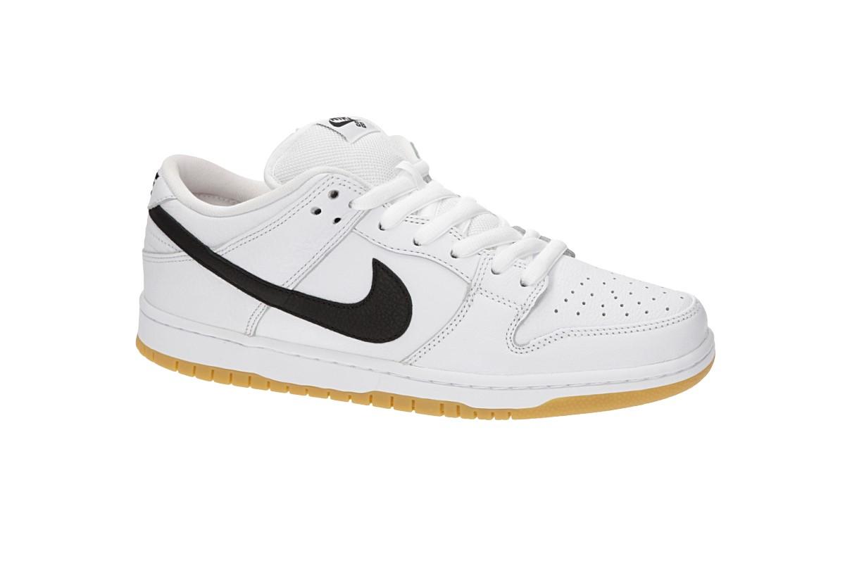 b736abe74db Nike SB Orange Label Dunk Low Pro Iso Schoen (white black) koop bij ...