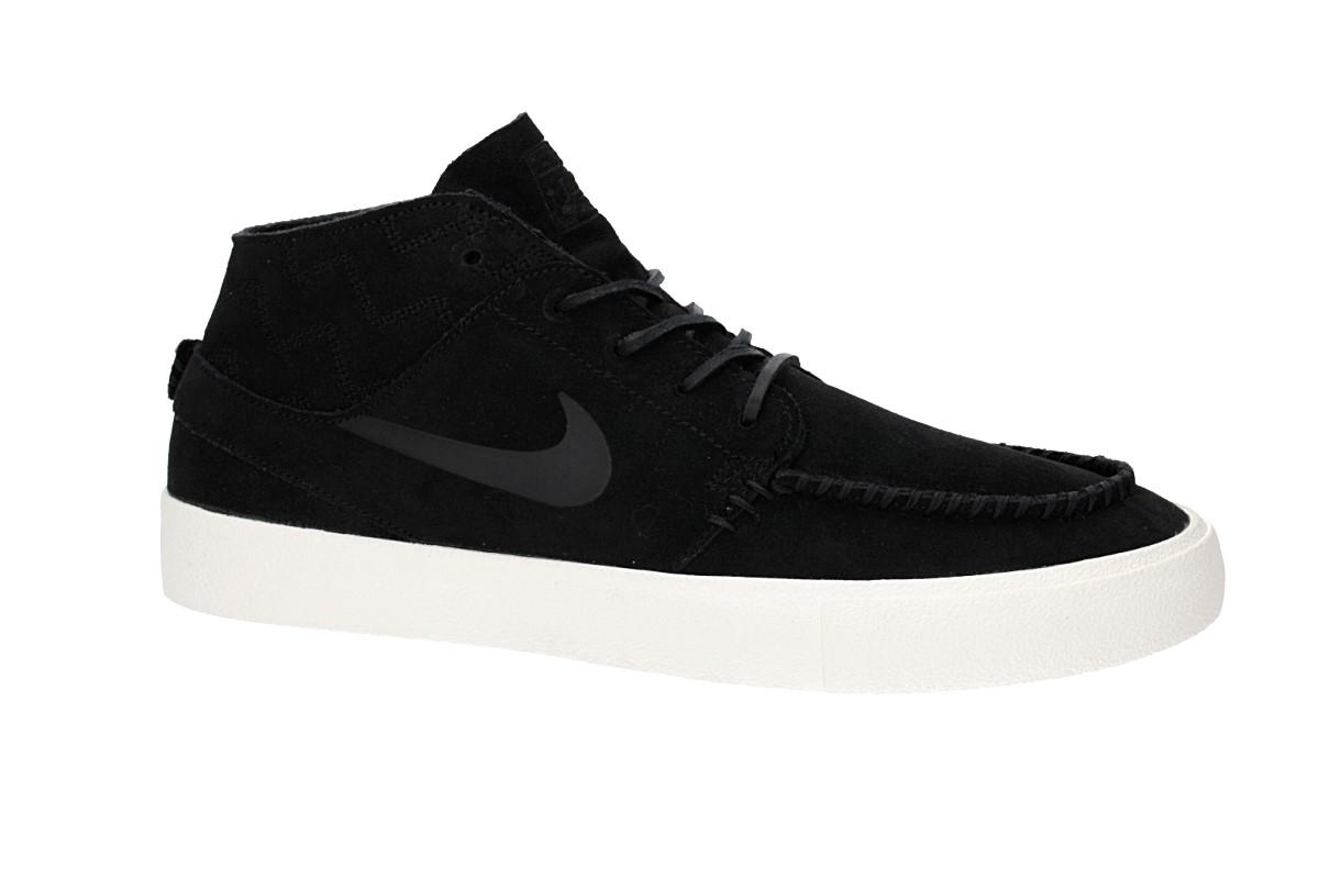 Nike SB ZOOM JANOSKI MID CRAFTED - Sneakers hoog black/pale ivory