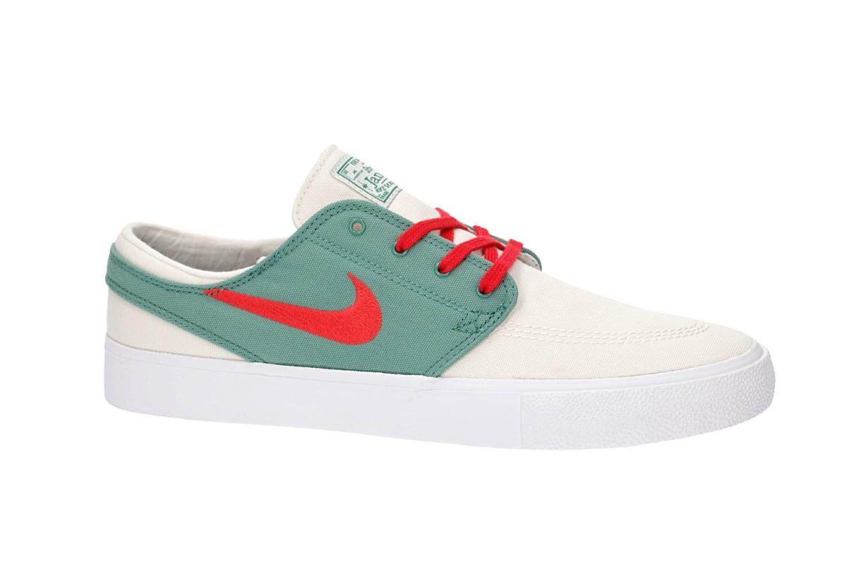 Nike SB Zoom Janoski Canvas RM Shoes (pale ivory atom red)