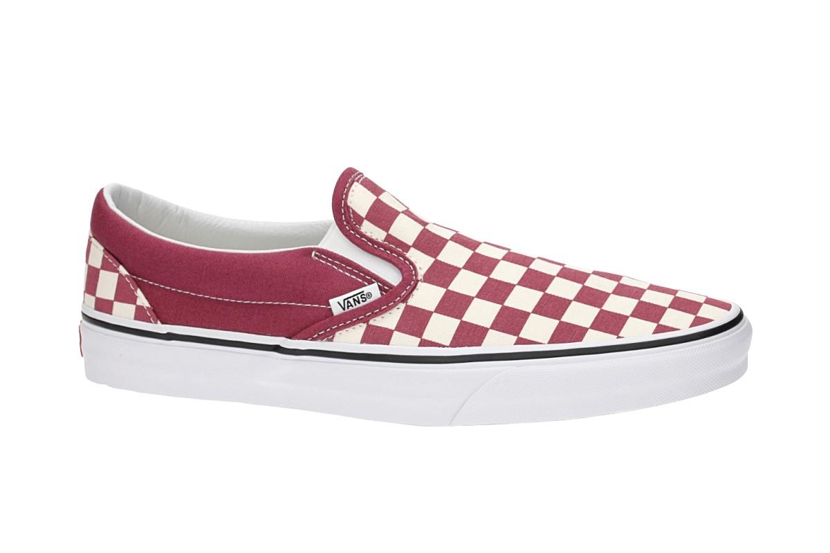 Vans Classic Slip On Chaussure (checkerboard dry rose white)