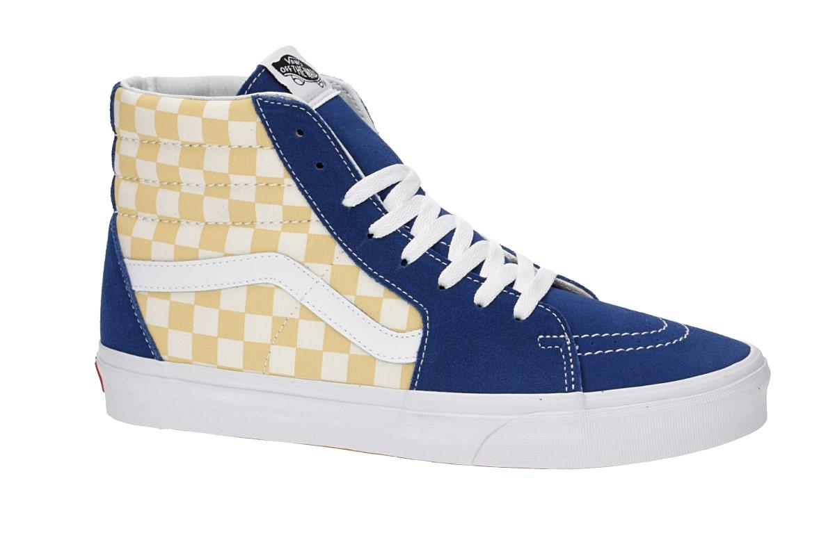 Vans Sk8 Schuhbmx Hi Checkerboard Blue wPk8nOX0NZ