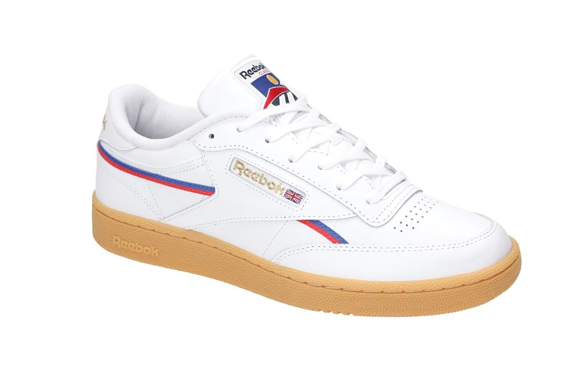 Reebok Club C 85 MU Chaussure (white red blue black)