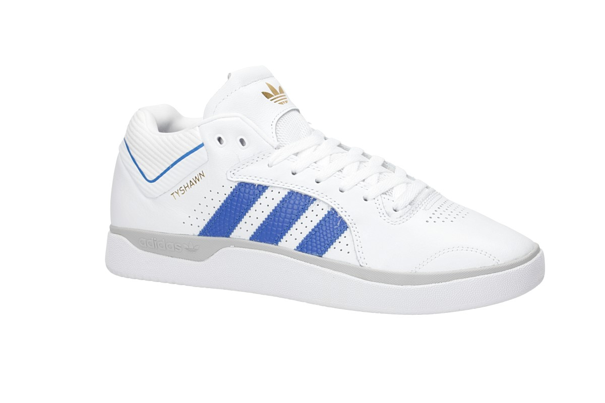 adidas Skateboarding Tyshawn Shoes (white blue gold melange)