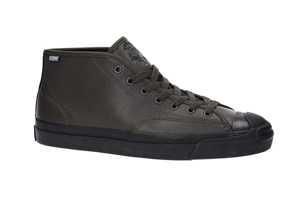 Converse Jack Purcell Mid Pro Leather Shoes (beluga black black)