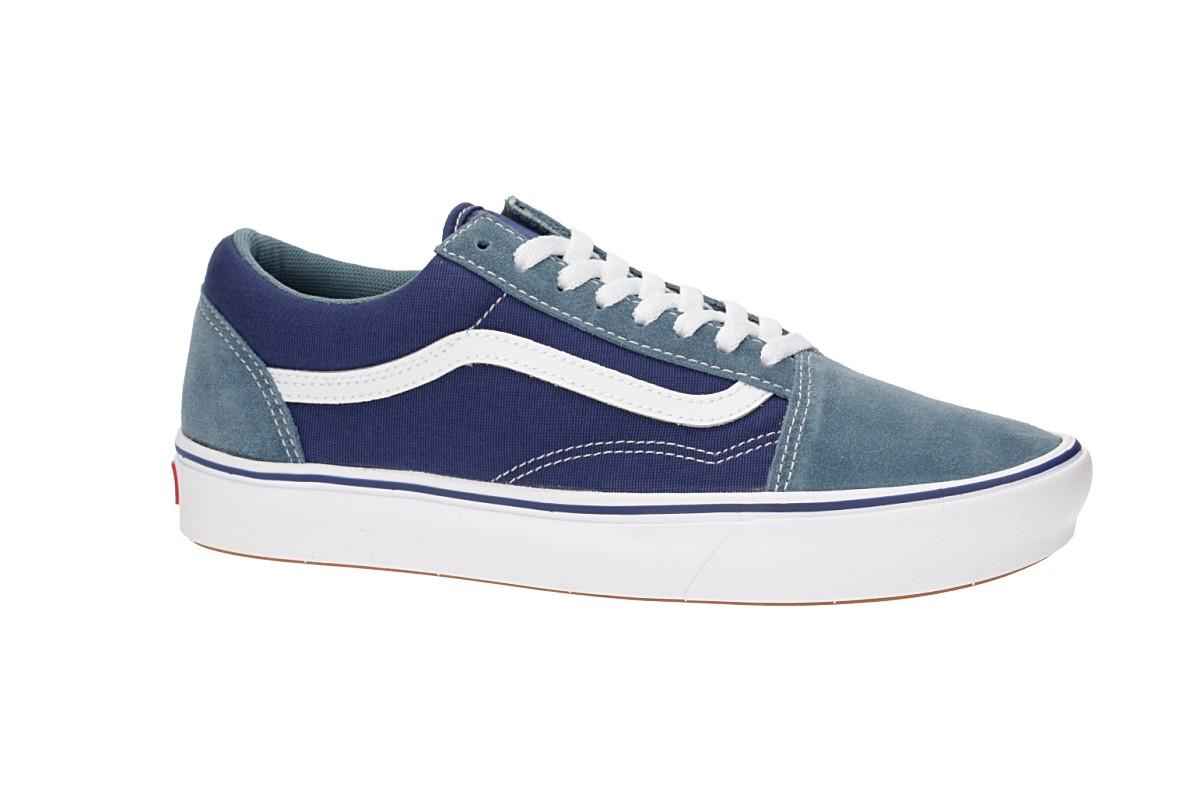 Vans ComfyCush Old Skool Suede Textile Shoes (blue)