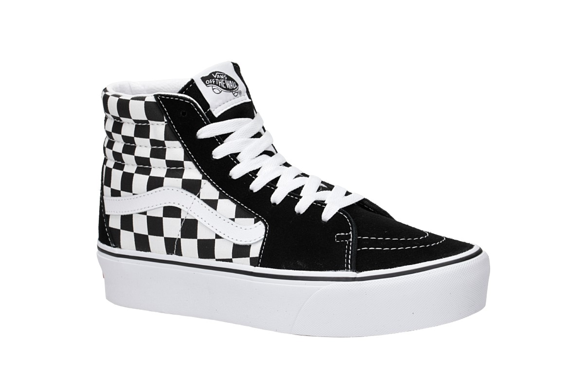Vans Sk8 Hi Platform 2.0 Schuh women (checkerboard true white)