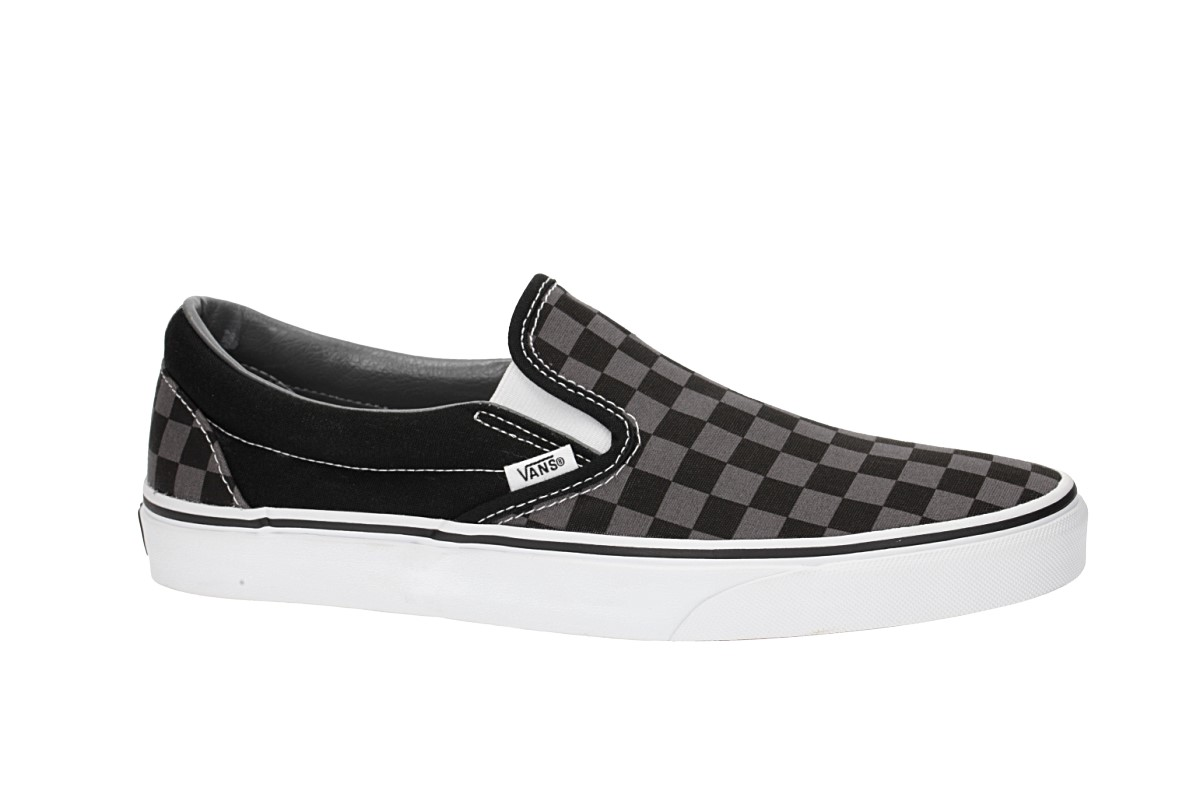 Vans Classic Slip On Shoes (black pewter checkerboard)