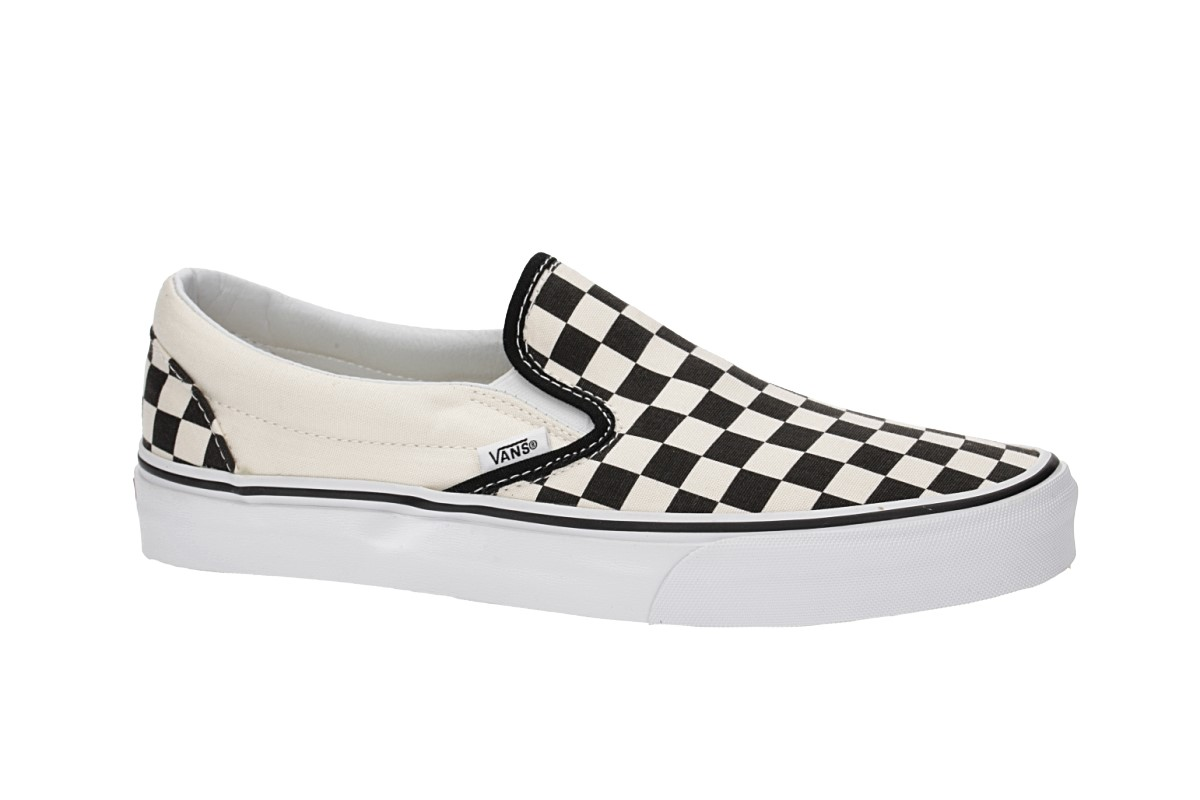 Vans Classic Slip-On Shoes (black white checkerboard)