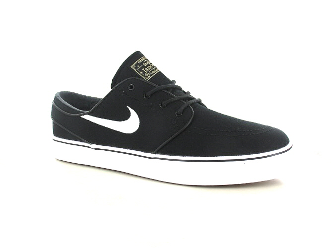 Nike SB Zoom Stefan Janoski Canvas Shoes (black white gum light brown)