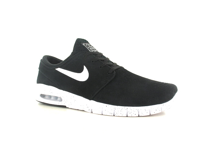 Nike SB Stefan Janoski Max Suede Schuh (black white)