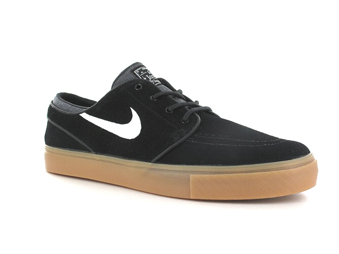 Nike SB Zoom Stefan Janoski Schoen (black white gum light brown)