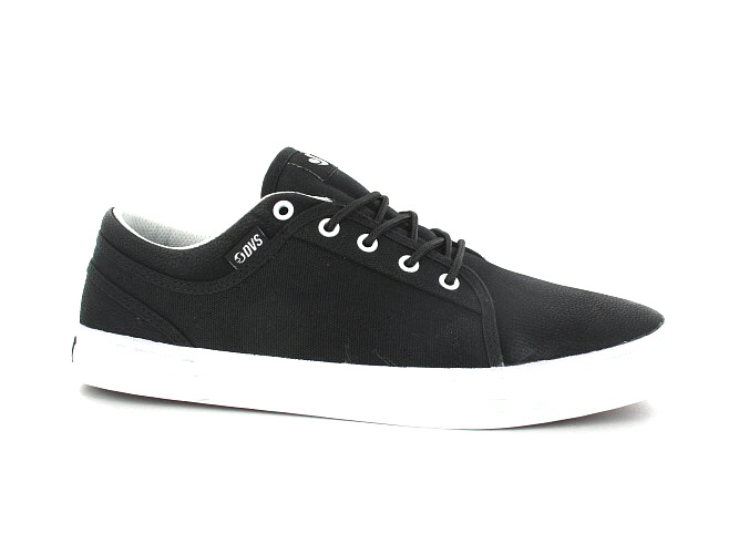 DVS Aversa Leather Shoes (black black white)
