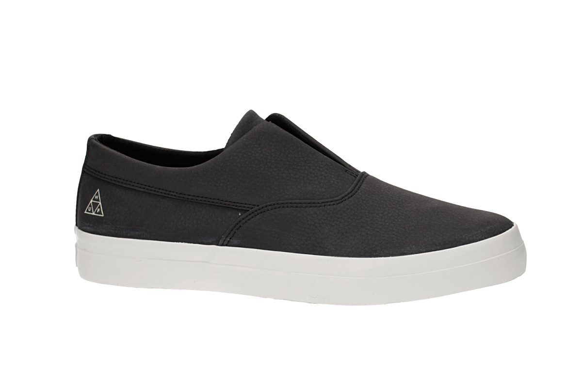 HUF Dylan Slip On Leather Shoes (black)