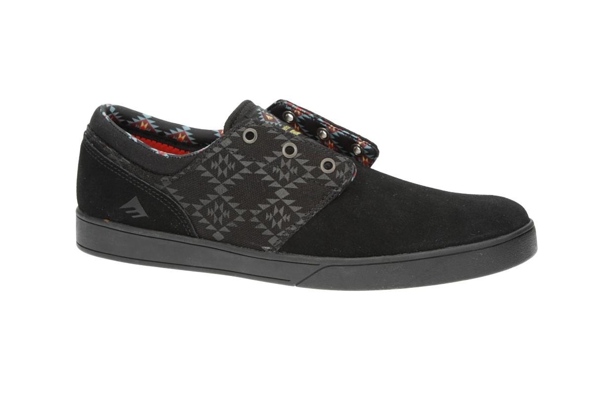 Emerica x Psockadelic The Figueroa Schuh (black black print)