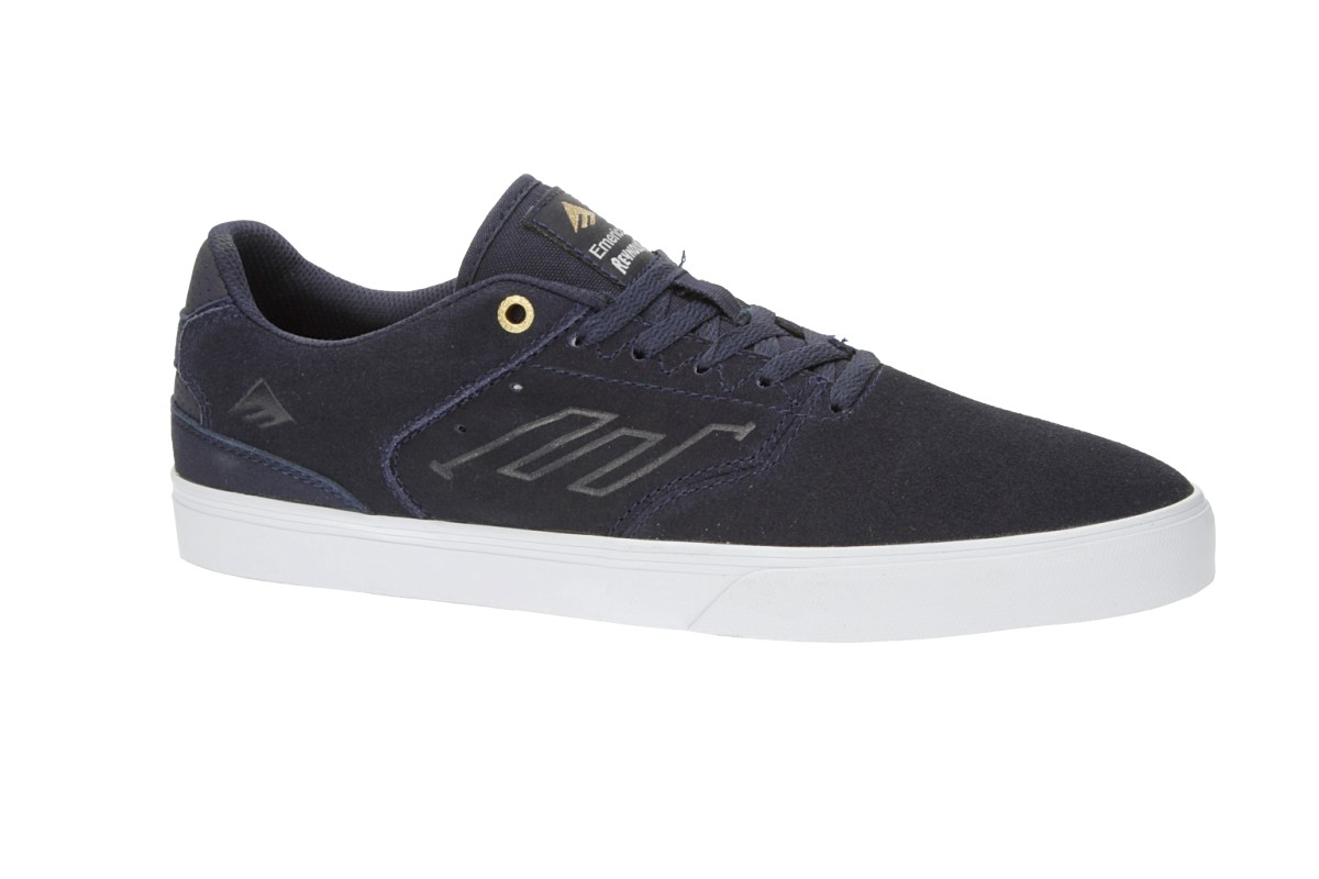 Emerica The Reynolds Low Vulc Suede Chaussure (navy white gold)