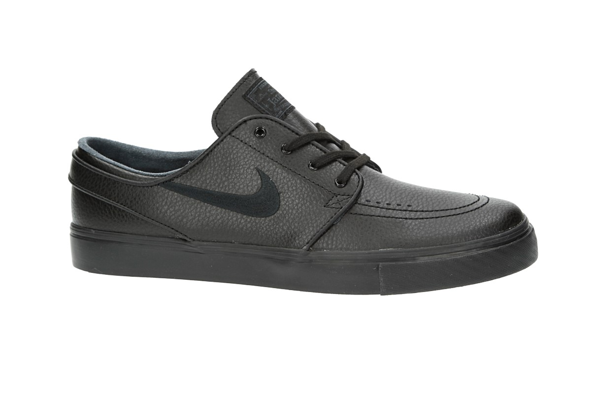 Nike SB Zoom Stefan Janoski Leather Schuh (black black black)