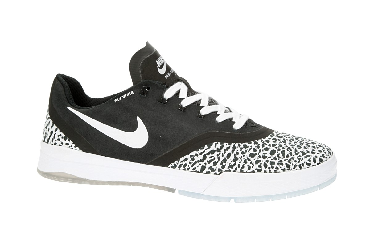 Nike SB Paul Rodriguez 9 Elite T Schoen (black white)