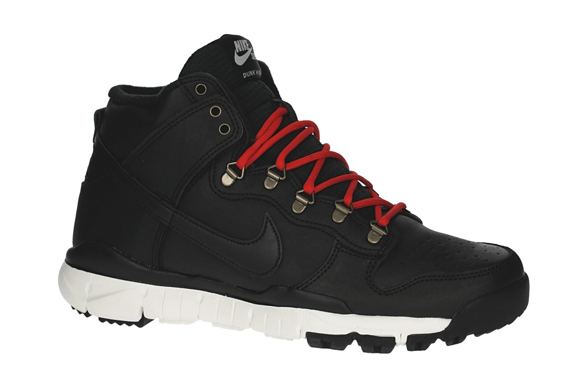 Nike SB Dunk High R/R Shoes (black black sail)
