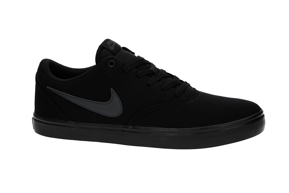 Nike SB Check Solarsoft Canvas Shoes (black anthracite)