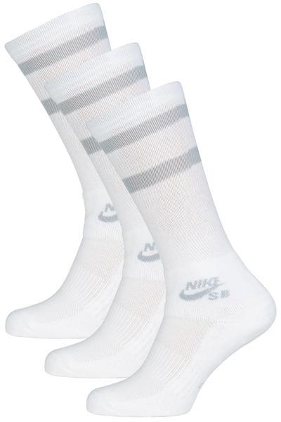 e764471f8e98 Nike SB Crew Skateboarding Socks US 3-15 (white wolf grey) 3 Pack buy at  skatedeluxe