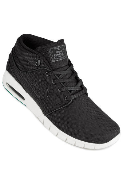 low priced 11e69 112fa Nike SB Stefan Janoski Max Mid Shoes (black neptune green) buy at  skatedeluxe