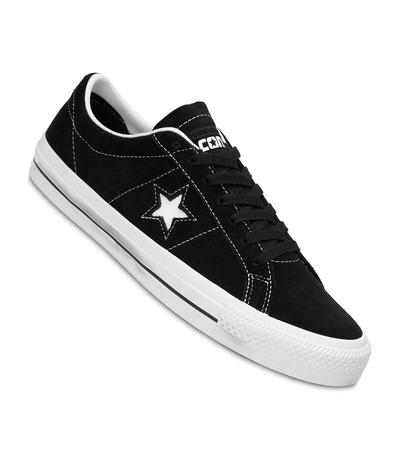 Señor Autorizar doblado  Converse CONS One Star Pro Ox Shoes (black white white) buy at skatedeluxe