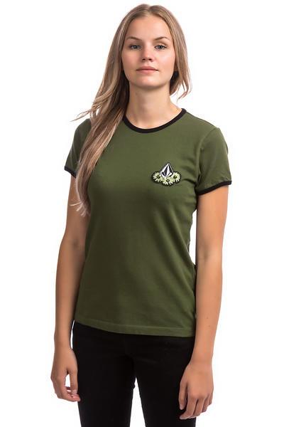 41a87a8f1f48 Volcom Keep Goin Ringer T-Shirt women (dark camo) achetez sur skatedeluxe