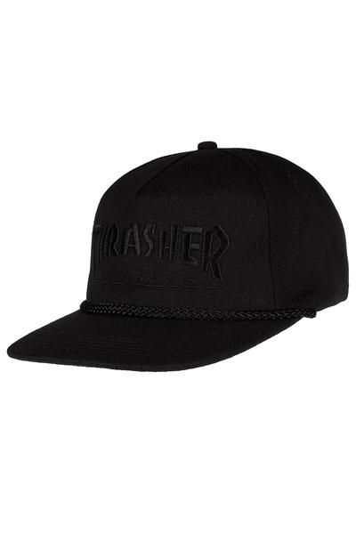75337b3d05f885 Thrasher Rope Snapback Cap (black black) buy at skatedeluxe