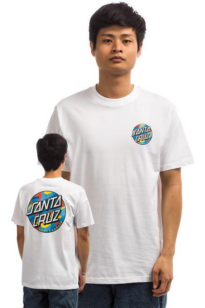 Santa Cruz Primary Dot T Shirt (white)