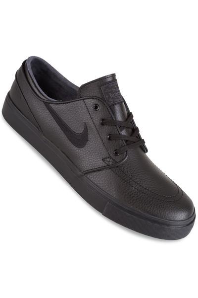 big sale 03f17 8af32 Nike SB Zoom Stefan Janoski Leather Shoes (black black black) buy at  skatedeluxe