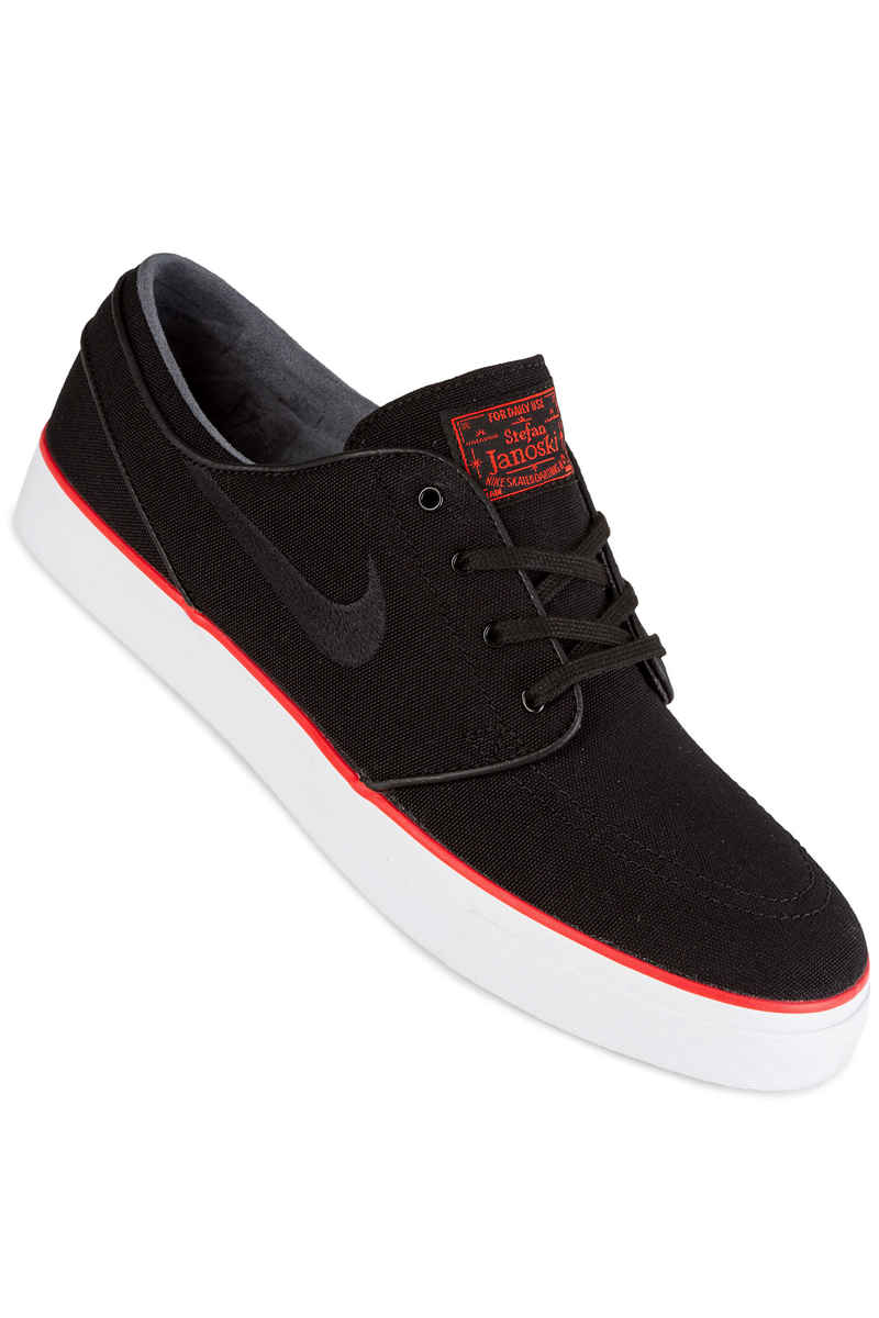 Nike SB Zoom Stefan Janoski Canvas Shoes (black max orange)
