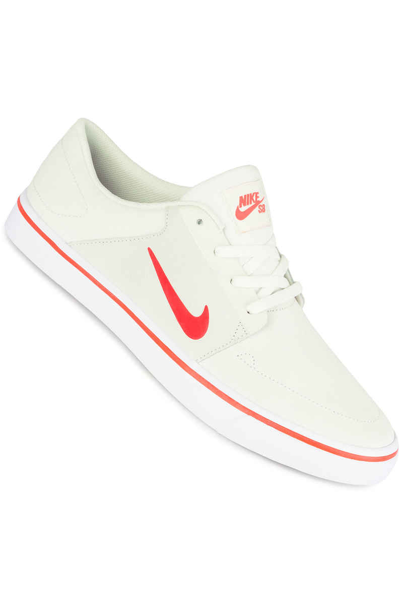 Nike SB Portmore Schuh (summit white max orange white)