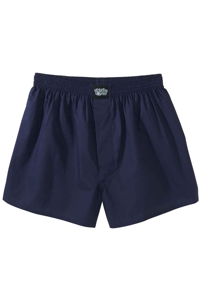 Lousy Livin Underwear Plain Boxershorts (navy port blue) 2er Pack