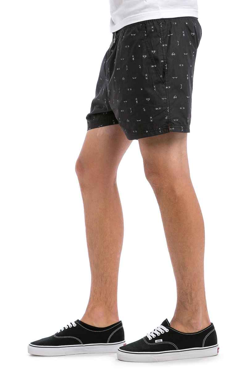 Cleptomanicx Jam Pattern Shorts (black)