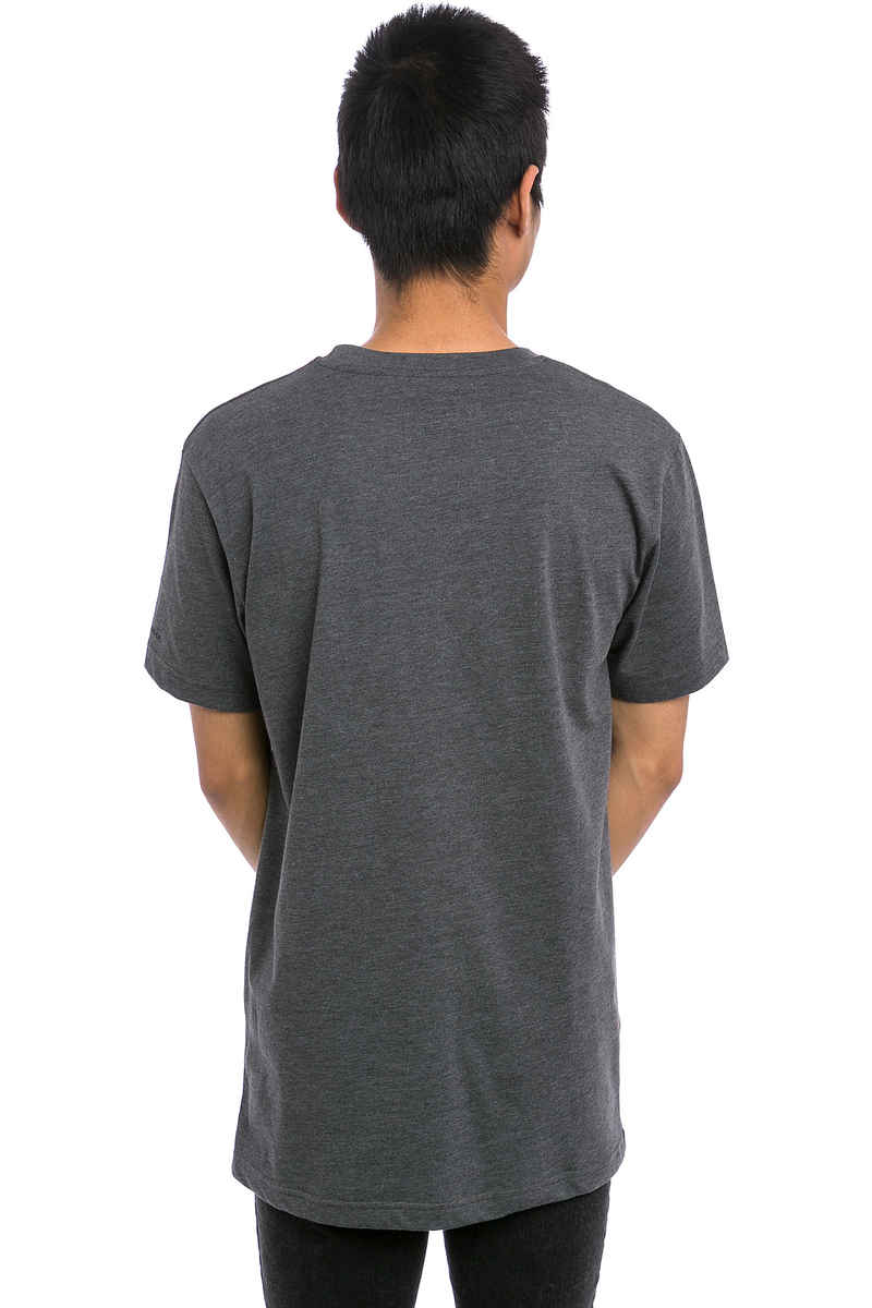 Cleptomanicx Mowe T-Shirt (heather dark grey black)