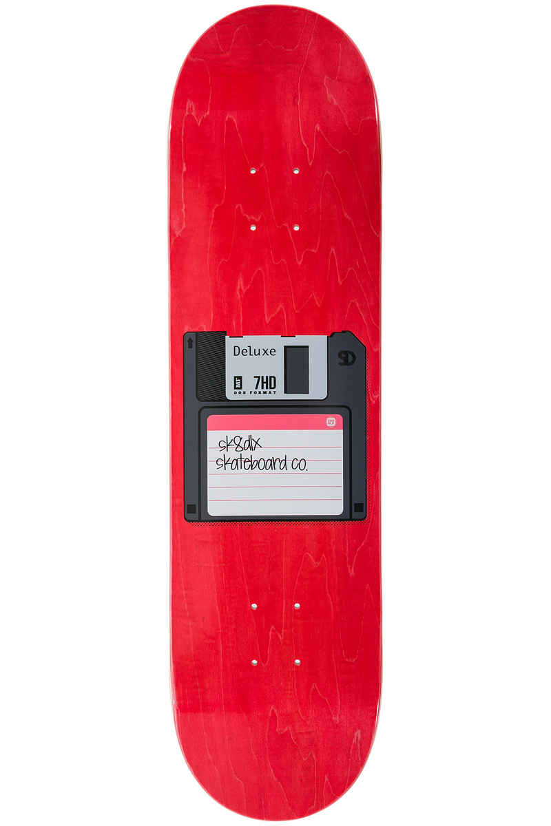 "SK8DLX Disk Series 8.125"" Deck (red)"
