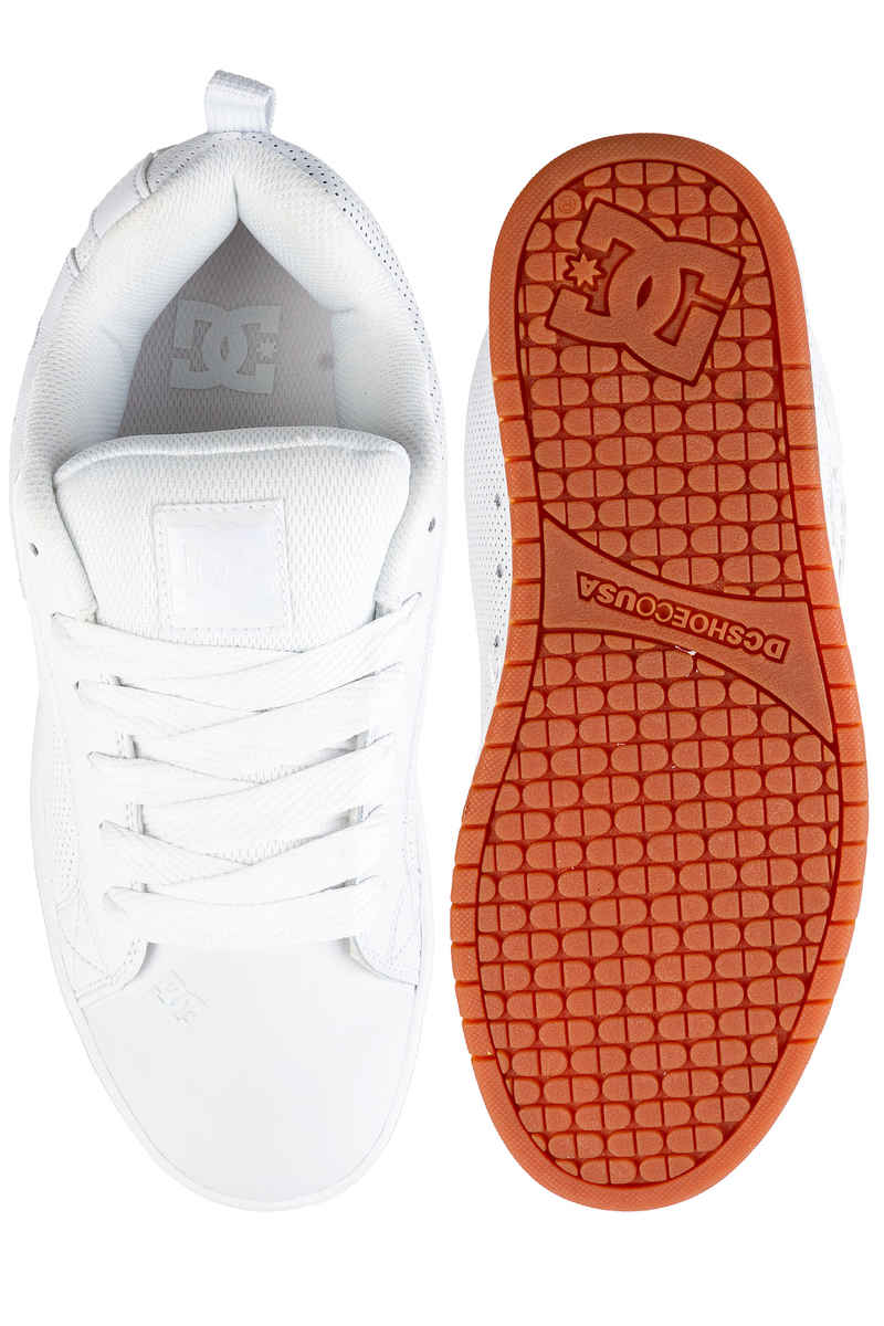 DC Court Graffik Shoes  (white white gum)
