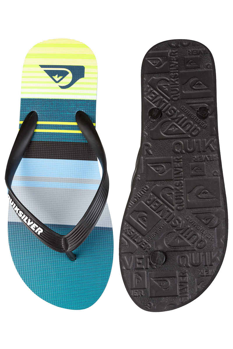 Quiksilver Molokai Everyday Stripe Sandale (black green grey)