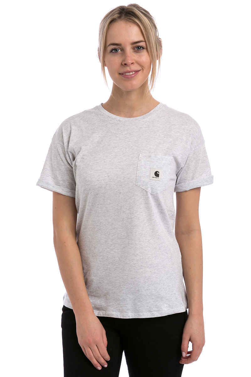 Carhartt wip w 39 carrie pocket t shirt women ash heather for Pocket tee shirts for womens