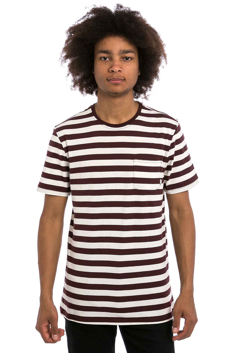 Altamont Cromwell T-Shirt (white burgundy)