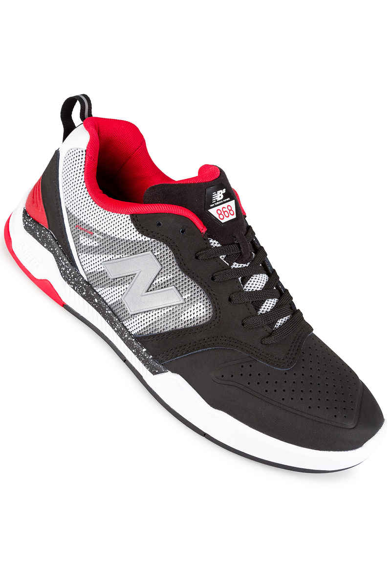 New Balance Numeric 868 Shoes (black white red)