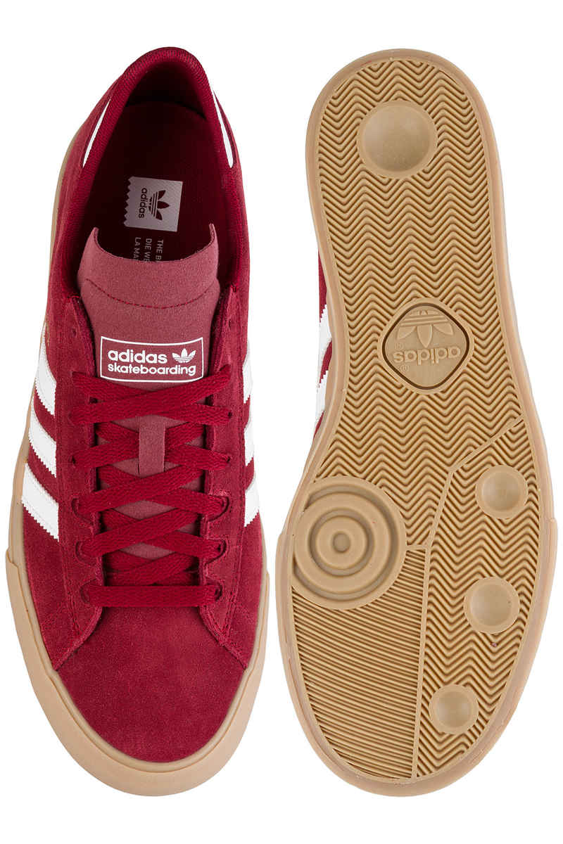 adidas Campus Vulc II ADV Shoes (collegiate burgundy whitee gum)