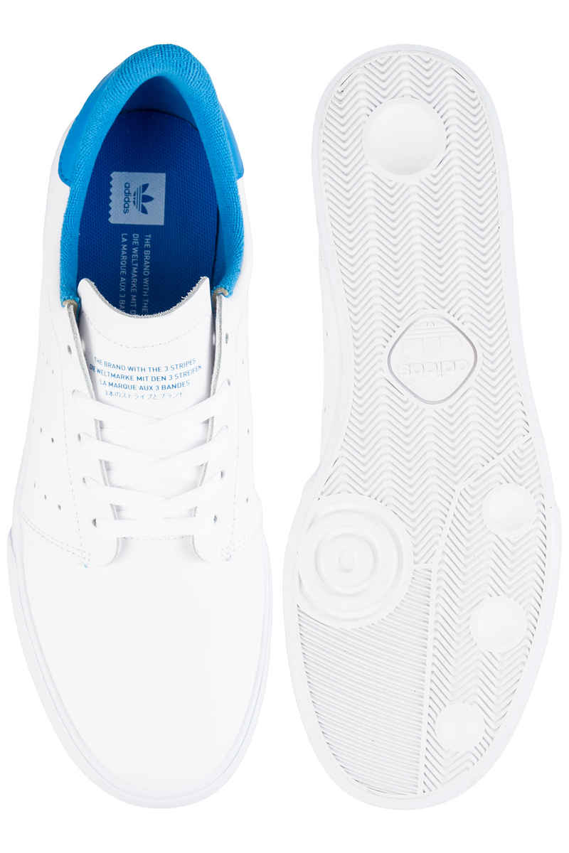 adidas Seeley Court Schuh (white white bright blue)