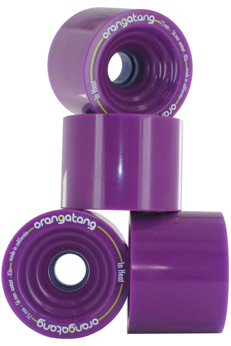 Orangatang In Heat 75mm 83A Wheels (purple) 4 Pack