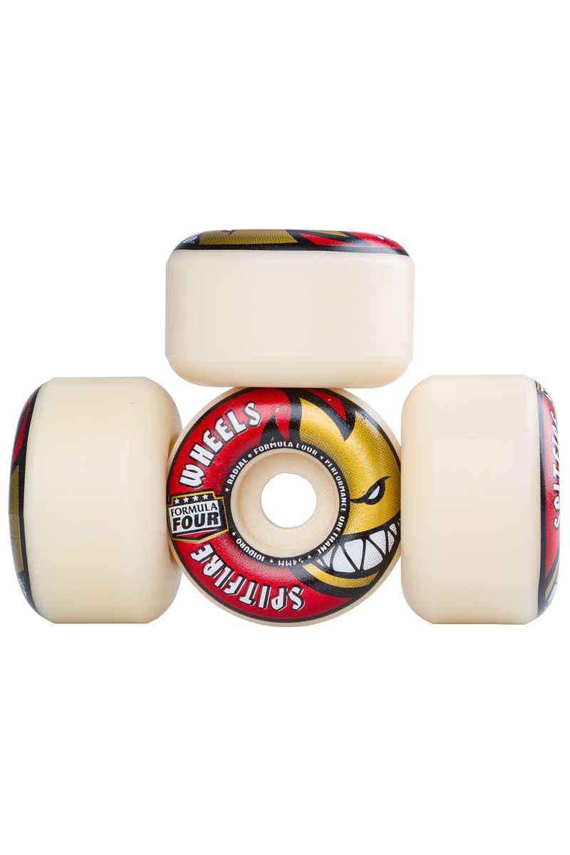 Spitfire Formula Four Radials Rollen (white red) 54mm 101A 4er Pack