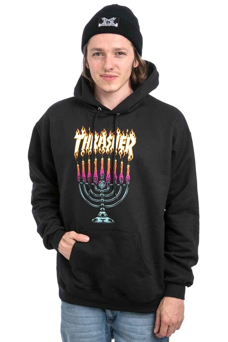 Thrasher Menorah Hoodie (black)