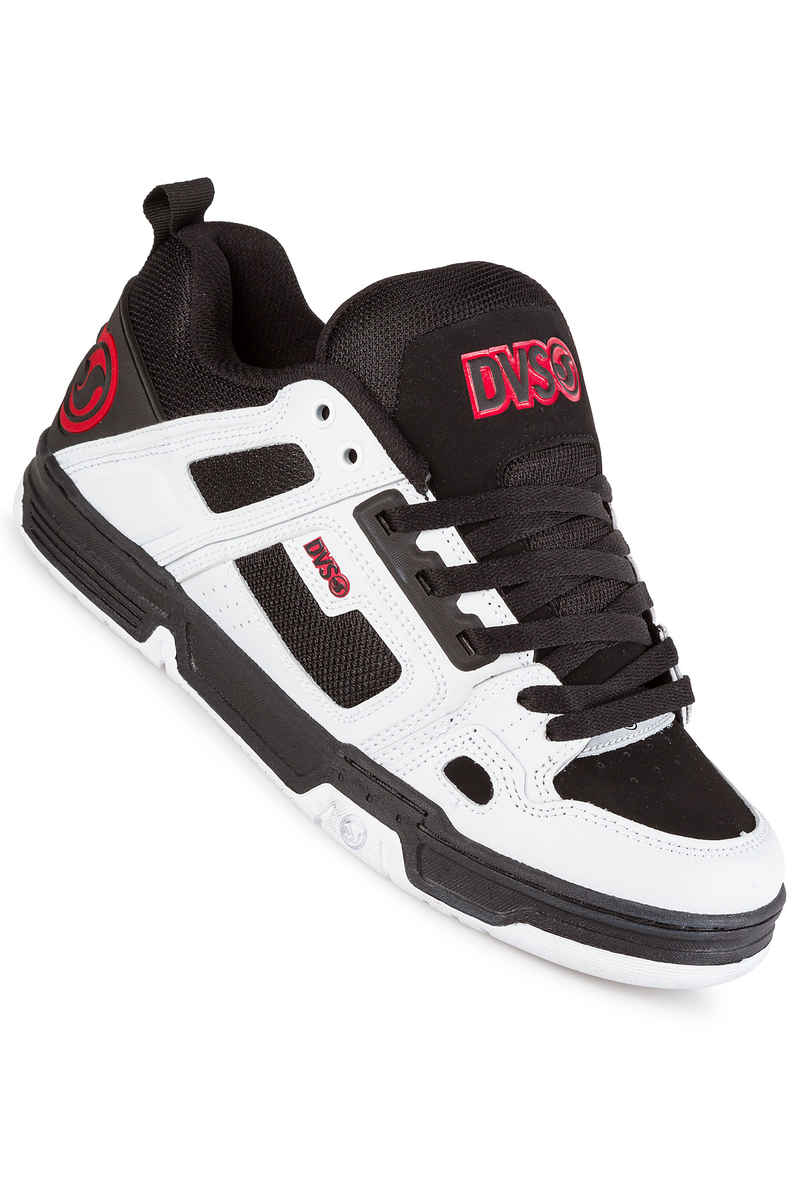 DVS Comanche Leather Shoes (black white red)