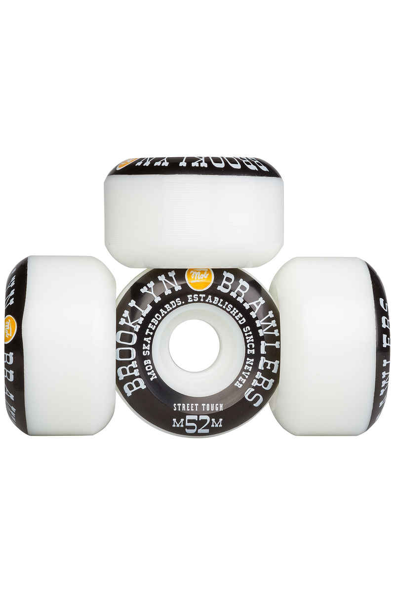 MOB Skateboards Brooklyn Brawlers 52mm Wiel (white black) 4 Pack